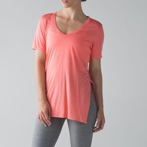Lululemon Zen Bender Coral Short Sleeve